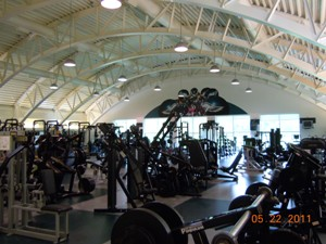 Eagles weight room