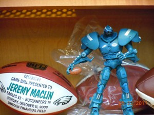 Display inside Jeremy Maclin's locker