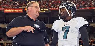 Andy Reid and Michael Vick