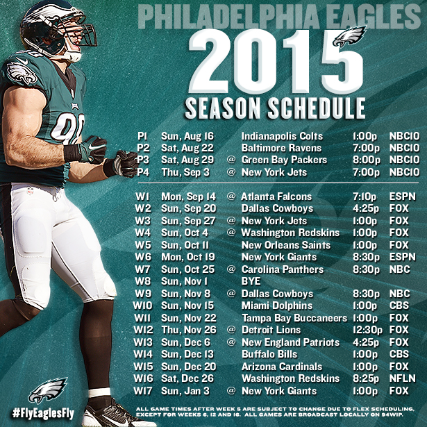 2015 Eagles schedule