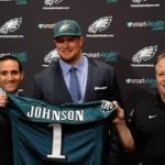 Chip Kelly and Lane Johnson