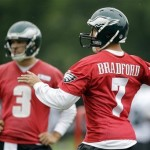 Eagles Super Bowl odds hinge on Sam Bradford's performance.  MATT ROURKE/AP Photo