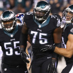 These 3 guys will determine how much the Eagles defense will have to blitz.  Photo: Bill Streicher-USA TODAY Sports