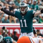 Thumbs up for Wentz! Photo: Bill Streicher-USA TODAY Sports