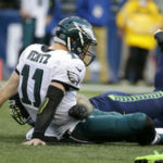 Can Carson Wentz and the Eagles get back up and compete for the playoffs?  Photo: Associated Press